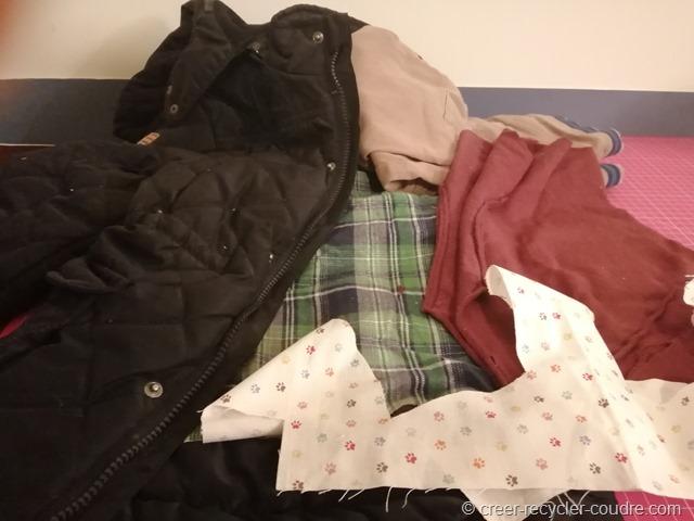 Vêtements à transformer en basset doudou ou cale-porte