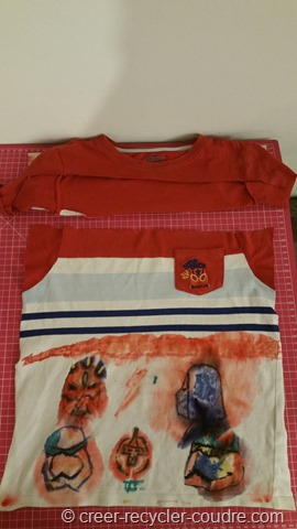 Couture enfant_aquarelle sur tissu