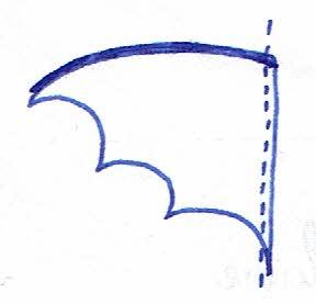 couture du costume chauve souris : couture des deux ailes de chauve souris deux par deux