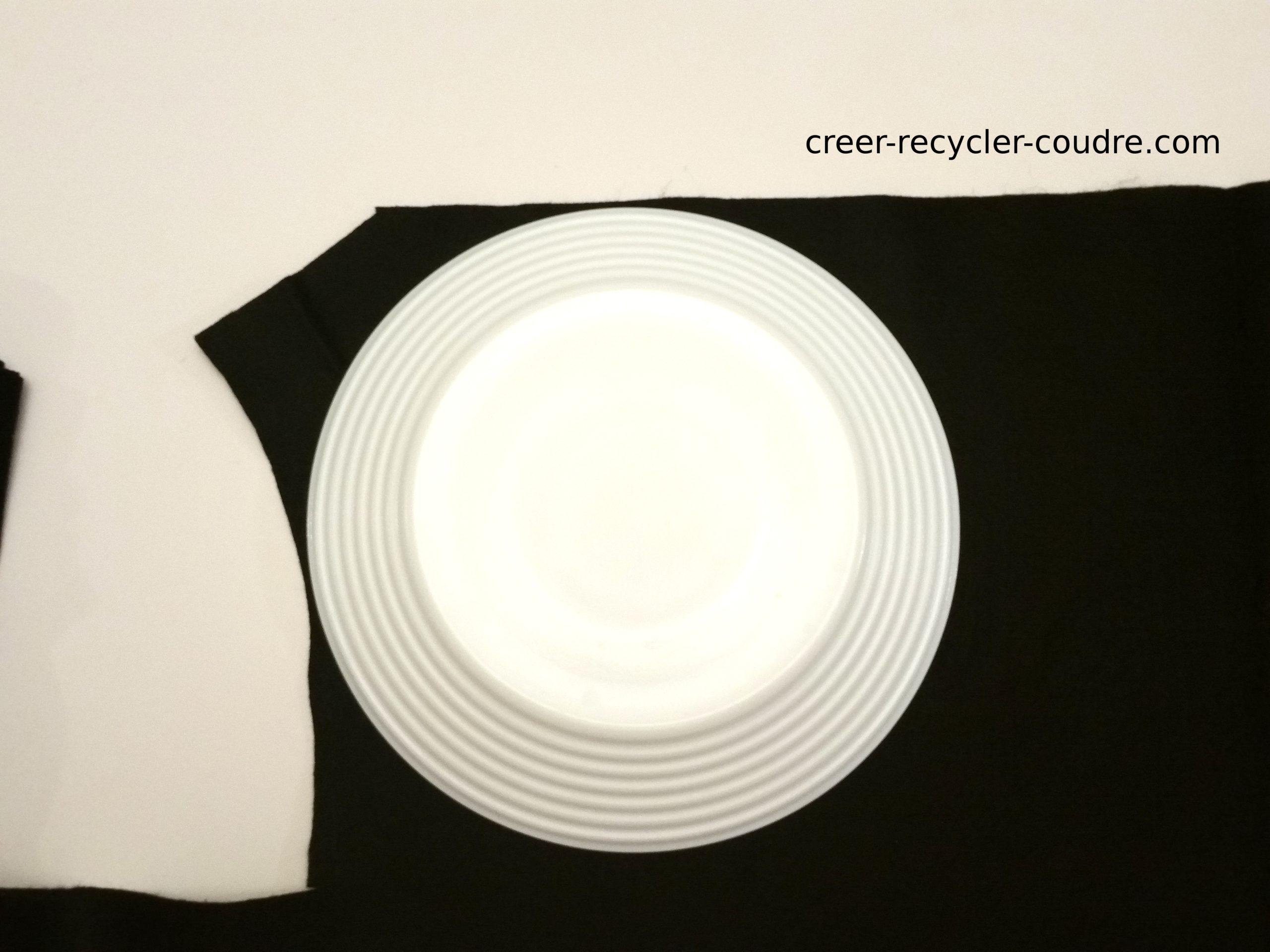 Appuyer sur l'assiette retournée