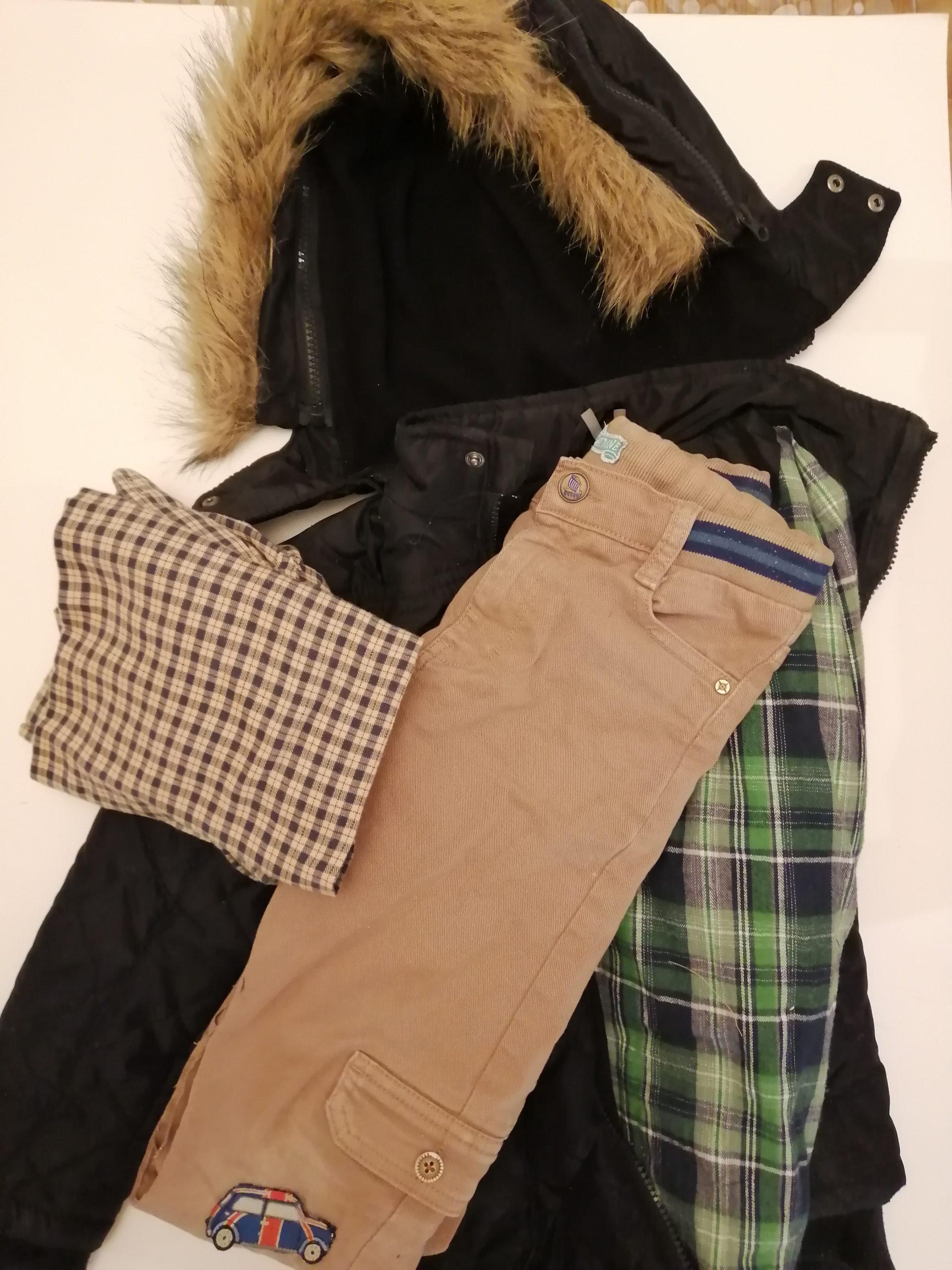 Vêtements choisis pour le recyclage