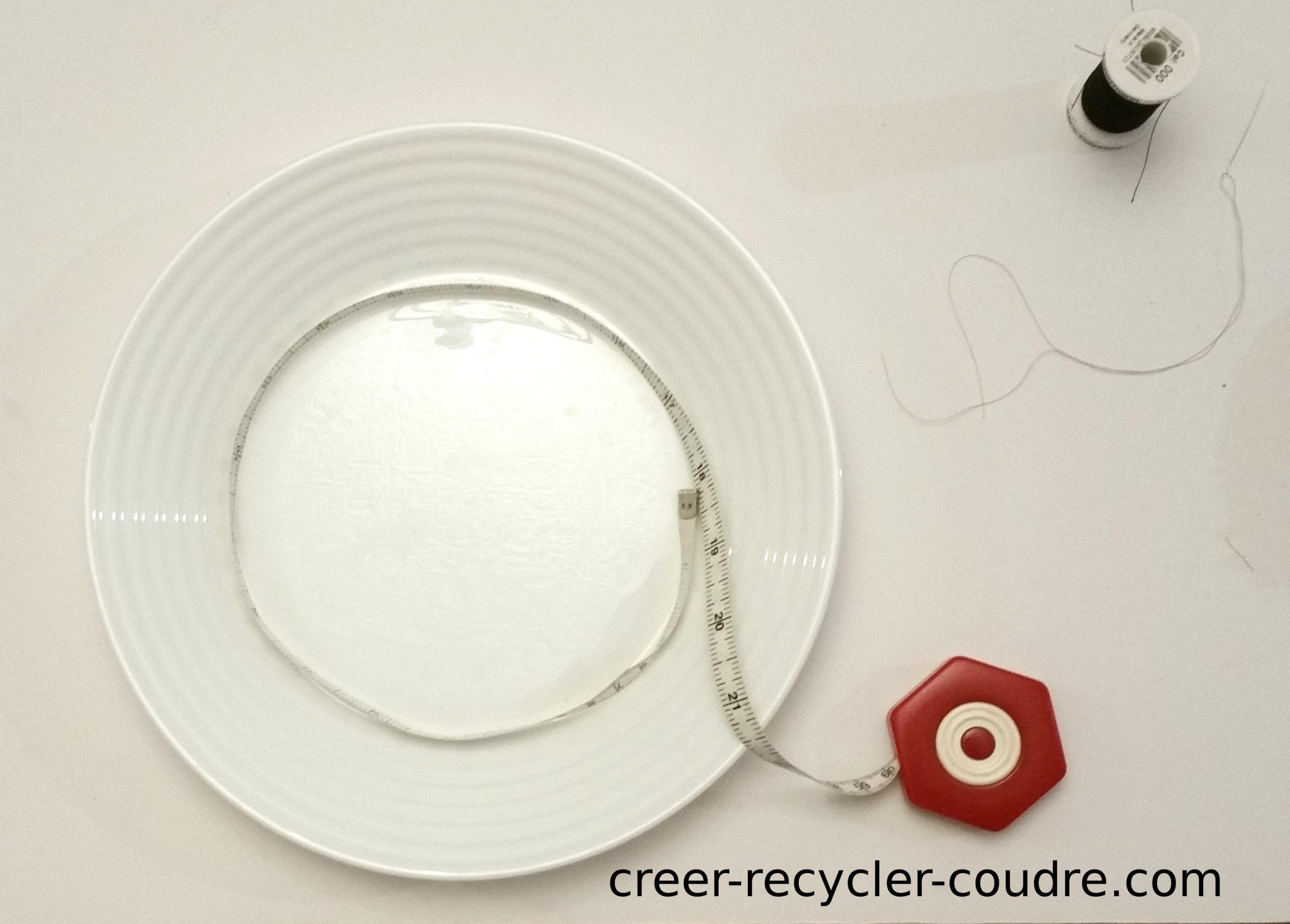 mesure du contour de l'assiette