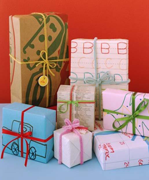 différents types d'emballage pour emballer les cadeaux sans papier