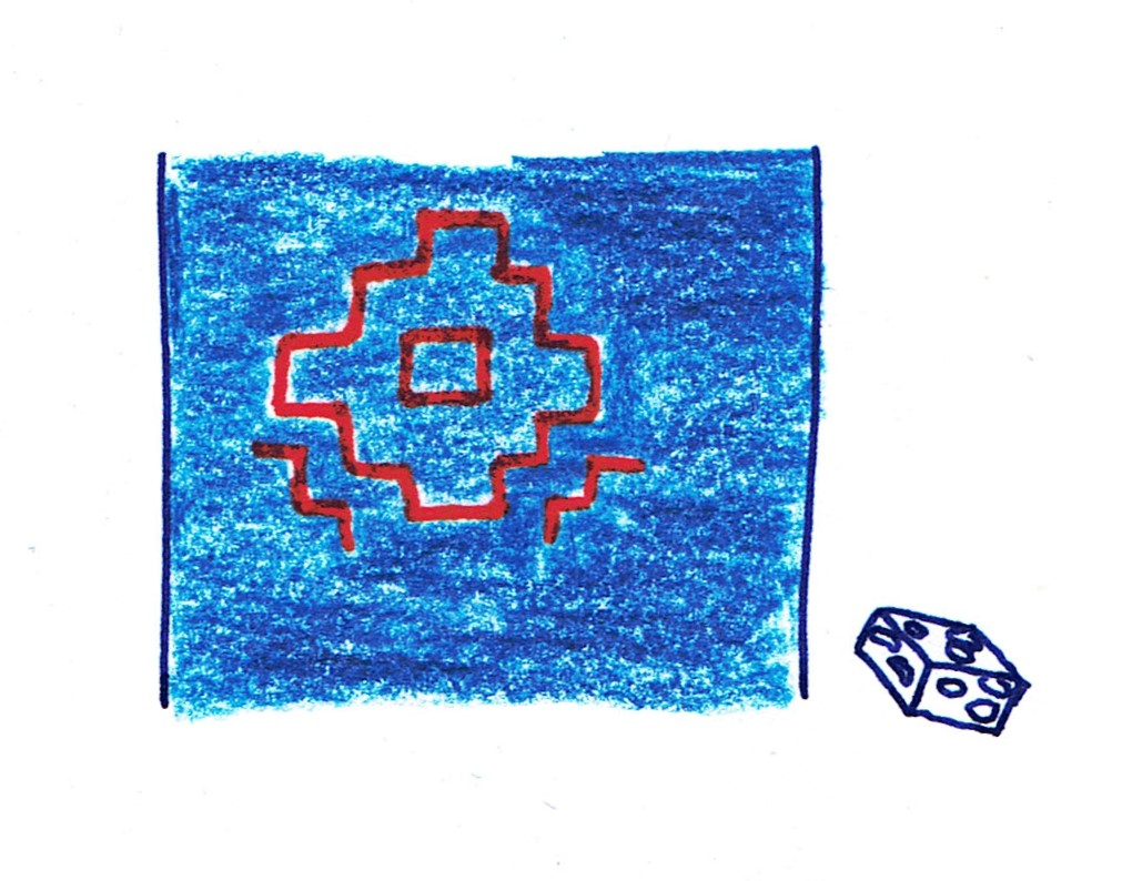 repassez votre motif sashiko dans une autre couleur