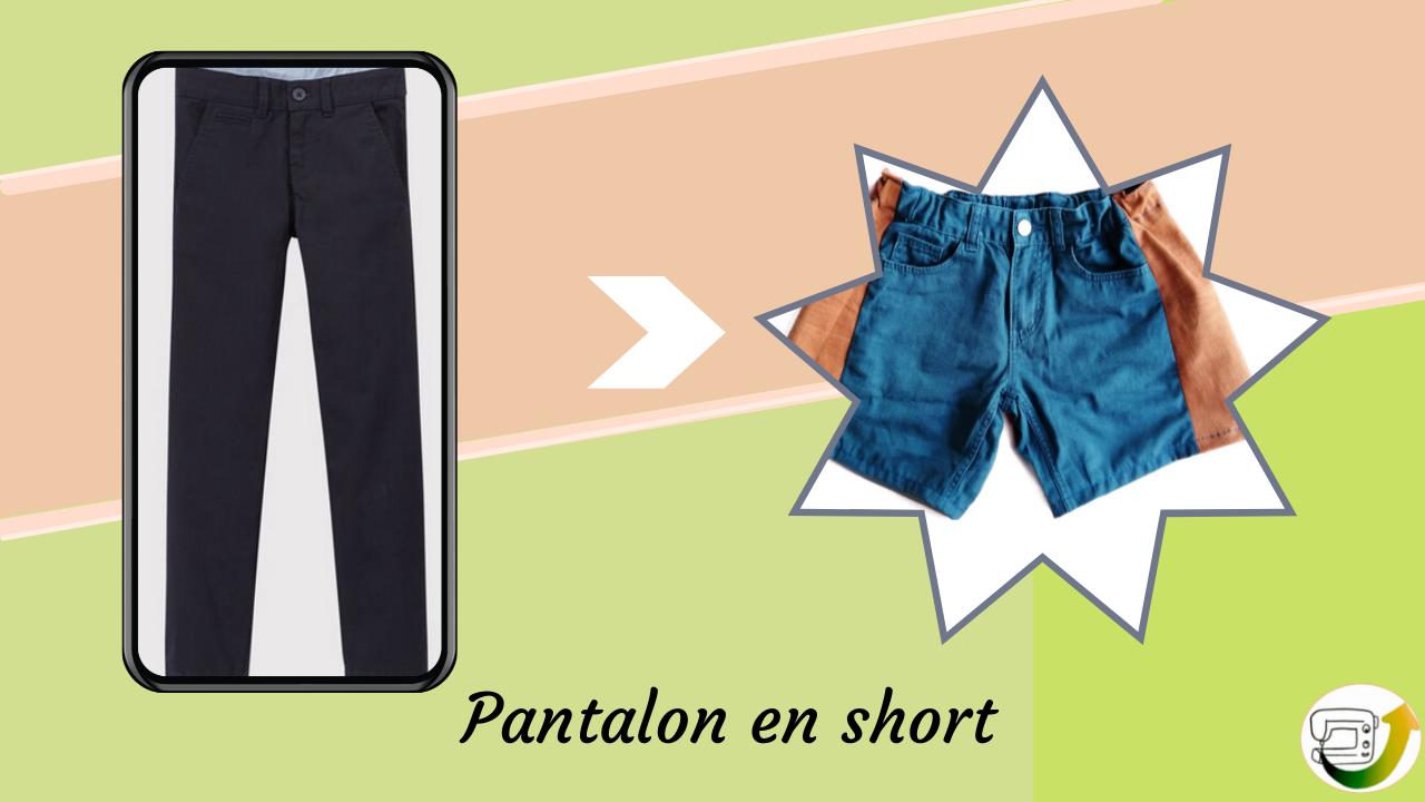 transformer pantalon ou jean en short