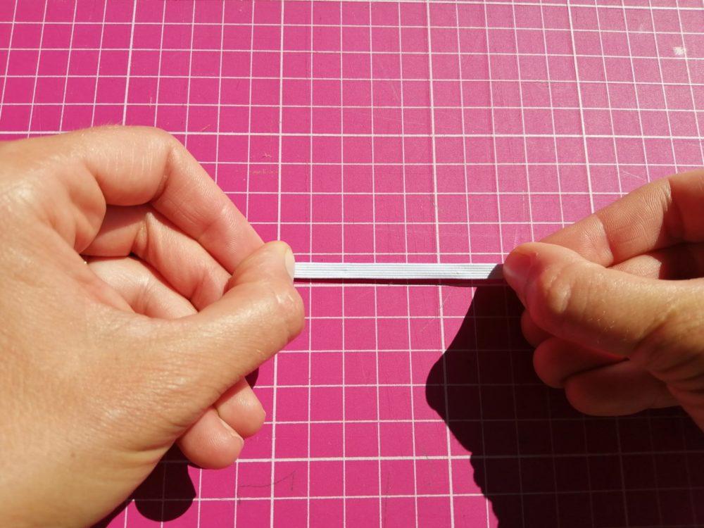 élastique côtelé ou élastique tressé fin non étiré
