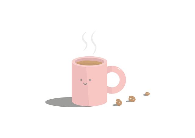 tasse de café qui sourit